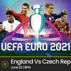 England Vs Czech Republic (Tuesday 22nd June 2021, 8pm)
